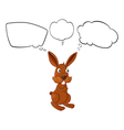 Cartoon thinking rabbit vector