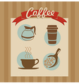 Coffee label set poster vector