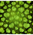 Seamless pattern with bright green leaves vector