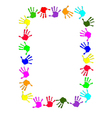 Colorful hand frame vector