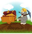 Mole dug treasure vector