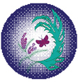 Butterfly with floral5 vector