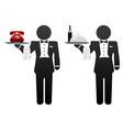 Room service waiter vector