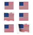 Usa flag set vector