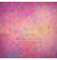 Retro hipster geometric triangles pattern texture vector