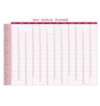 2014 annual planner vector