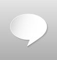 Origami speech bubble icon vector
