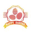 Easter vintage label vector