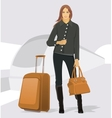 Traveling young woman vector
