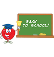 Back to school apple teacher vector