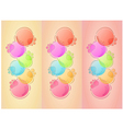 Bubbles background with three lines vector