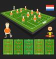 Soccer world cup team presentation holland team vector