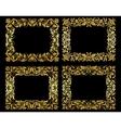 Ornate gold floral frames vector