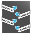 Left and right side signs - follow me vector
