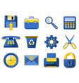 Icons - blue and yellow vector