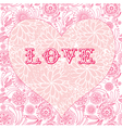 Floral ornate heart background vector