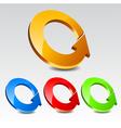 Circle arrow icon set vector
