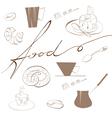 Inscription food vector