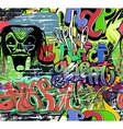 Graffiti wall urban background seamless vector