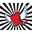 Heart flying vector