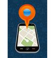 Gps city map arrow vector