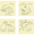 Calendar for 2011 with fruit vector