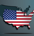 American flag paper map vector