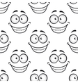 Happy face seamless pattern vector