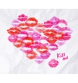 Heart lipstick kiss vector