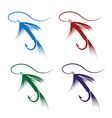 Set of fly fishing lure vector