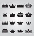 Set of crowns icons vector