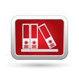 Folders on a shelf icon vector