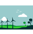 Windmill and environment vector