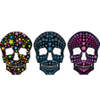Set of decorative silhouettes of a skull vector