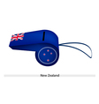 A beautiful blue whistle of new zealand vector