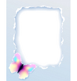 Paper frame with butterfly vector