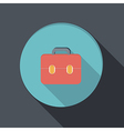 Paper flat icon with a shadow briefcase vector