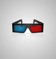 Black 3d cinema glasses vector