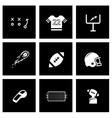 Black football icon set vector
