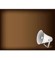 Megaphone brown background vector