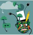 Green technology idea vector