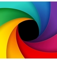 Swirly colorful paper background vector