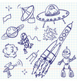 Space doodles vector