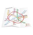 Metro map icon vector