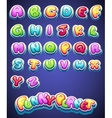 Colored letters for decoration of different names vector
