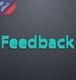 Feedback icon symbol 3d style trendy modern design vector