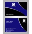 Blue and black business card vector
