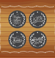 Chalkboard gift tags hand drawn vintage vector