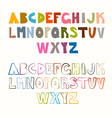 Funny alphabet sets colorful and outlined vector