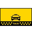 Yellow taxi background vector